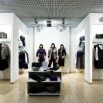 Interior of shop of clothes...
