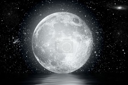 Photo for Full moon image with water - Royalty Free Image