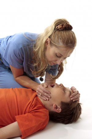 Resuscitation of a boy