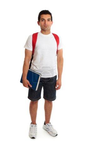 Full length student guy standing