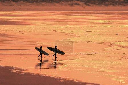 Walking surfers