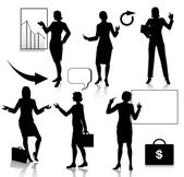 Business Frauen Silhouetten Satz