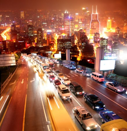 Photo for Rush hour in Shanghai city - Royalty Free Image