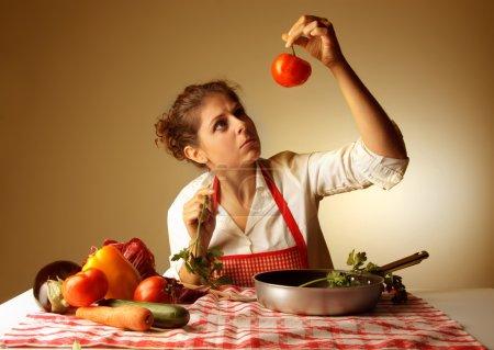Preparing a meal