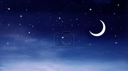 Photo for View of the night sky with moon - Royalty Free Image