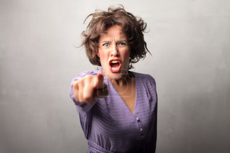 Photo for Angry woman accusing someone - Royalty Free Image