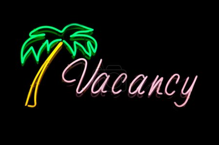 Vacation Image of a Hotel Vacancy Sign