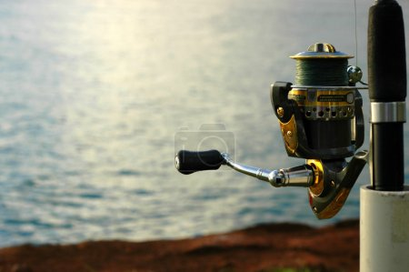 Sports Image of a Close up of a Fishing Reel by th...