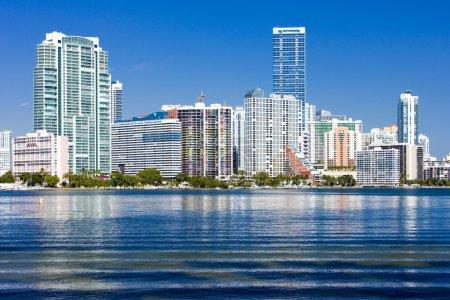 Photo pour Downtown Miami, Floride, États-Unis - image libre de droit