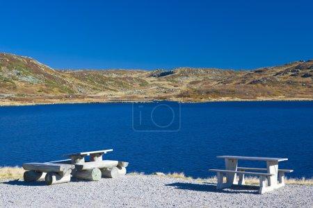 Foto de Gama de la montaña cerca de pico urdvassheii, Noruega - Imagen libre de derechos