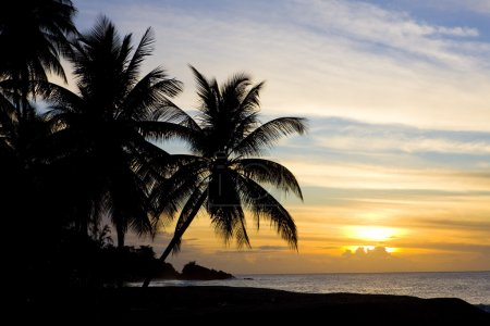 Sunset over Caribbean Sea