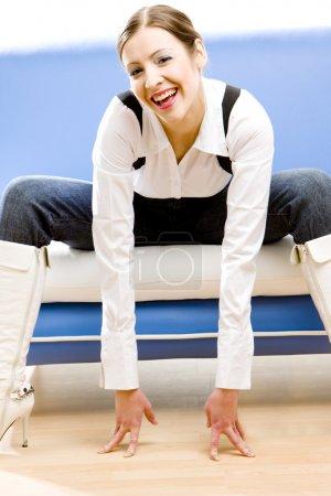 Foto de Mujer de negocios sentada - Imagen libre de derechos