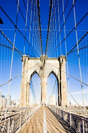 Photo pour Brooklyn Bridge, Manhattan, New York, États-Unis - image libre de droit