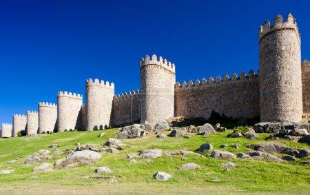 Fortification of Avila, Castile and Leon, Spain...
