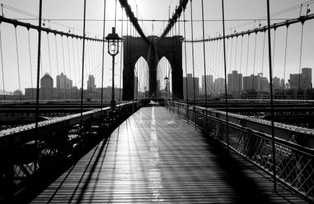 Photo pour Brooklyn Bridge, Manhattan, New York, États-Unis - image libre de droit