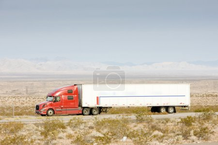 Camion on road, Nevada, USA