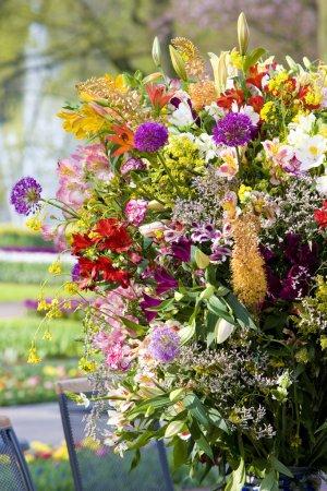 Photo pour Bouquet de fleurs, Jardins Keukenhof, Lisse, Pays-Bas - image libre de droit
