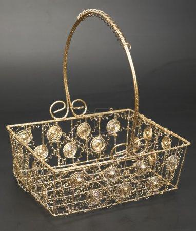 Christmas golden basket