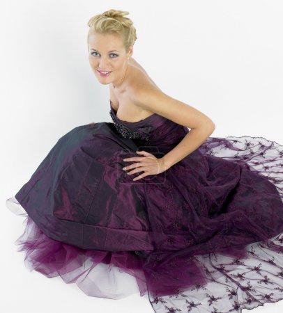 Woman wearing formal dress
