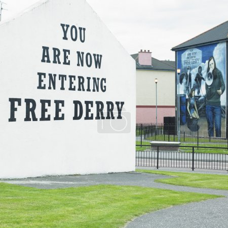 Mural painting, The Bogside, Derry - Londonderry, Northern Ireland