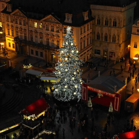 Old Town Square at Christmas time, Prague