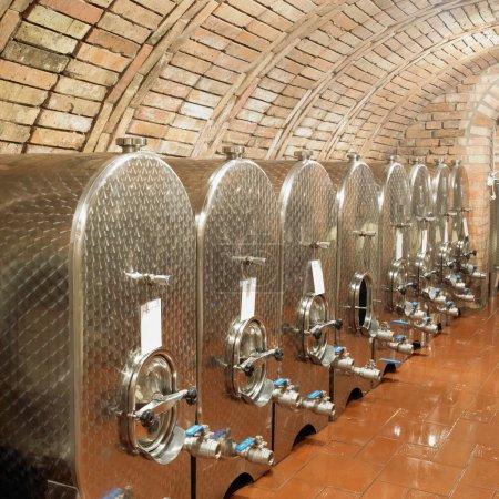 Fermentation tanks, Sidleny, Livi Dubnany, Czech Republic