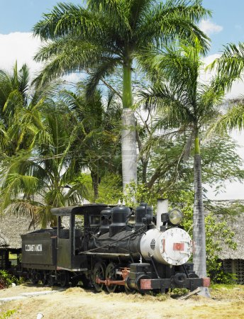 Memorial of steam locomotive Baldwin, Aguada, Cienfuegos Province, Cuba