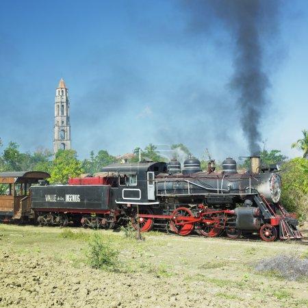 Photo pour Train touristique Valle de Los Ingenios, Manaca Iznaga, Sancti Sp - image libre de droit
