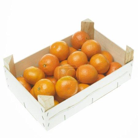 Photo pour Mandarines en boîte - image libre de droit