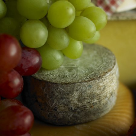 Cheese with grapes