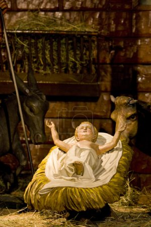 Crib in Cathedral Notre Dame, Strasbourg, Alsace, France