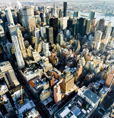 Photo pour Vue sur manhattan de l'empire state building, new york city, usa - image libre de droit