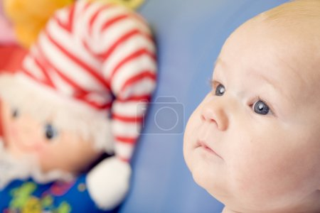 Photo for Portrait of baby with toy - Royalty Free Image