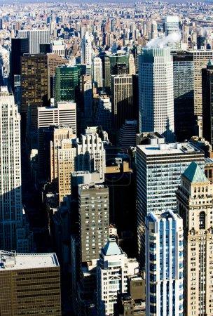 Photo pour Vue de Manhattan depuis l'Empire State Building, New York, États-Unis - image libre de droit