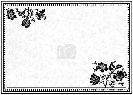 Photo pour Cadre décoratif et fond de parchemin. Facile à dimensionner et modifier . - image libre de droit