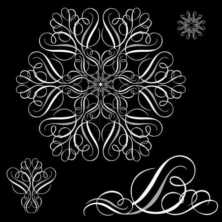 White Ornament Set