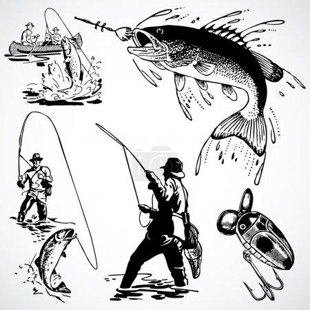 Vintage Fishing Graphics