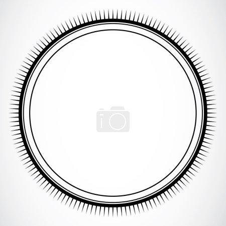 Photo pour Cadre circulaire détaillée ou frontière. facile à adapter à n'importe quelle taille. idéal pour les certificats. - image libre de droit