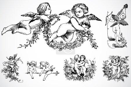Cupid Set illustrations