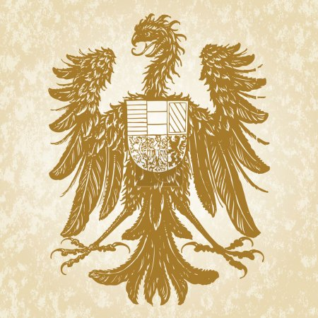 Photo for Detailed gothic eagle and shield. Easy to change colors. - Royalty Free Image