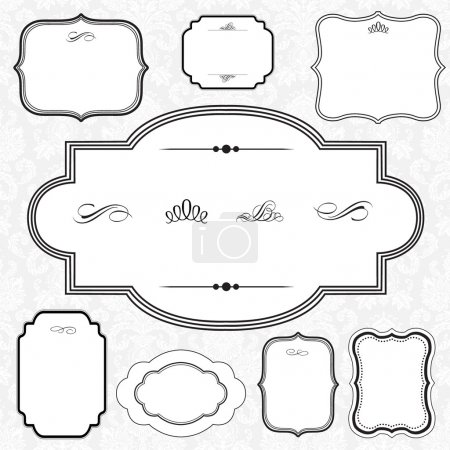 Photo for Ornamental frame set. Easy to scale and edit. All pieces are separated. - Royalty Free Image