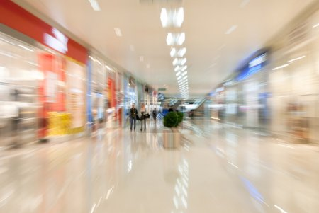 Photo for In a mall. Blurred motion image - Royalty Free Image