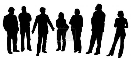 Illustration pour Homme est de donner à un groupe de présentation. fichier EPS disponible. - image libre de droit