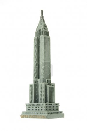 Empire State Building Souvenir on White Background...