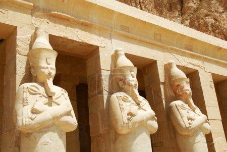Details of Hatshepsut's temple at Deir-el-Bahri, E...