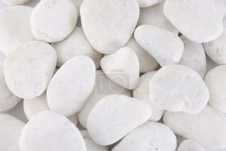 Photo for Close-up of few white stones, front view - Royalty Free Image