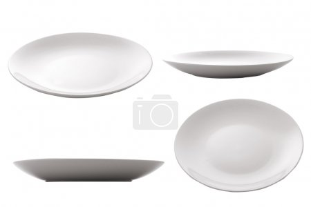 Photo for Three point of view of empty plate - Royalty Free Image