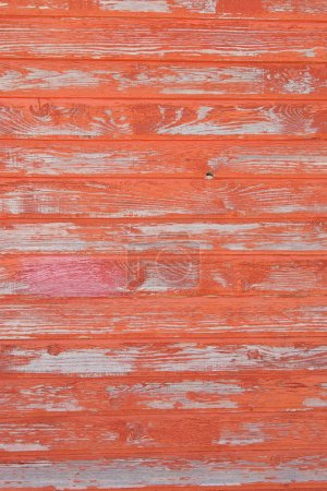 Red striped wooden with grunge paint