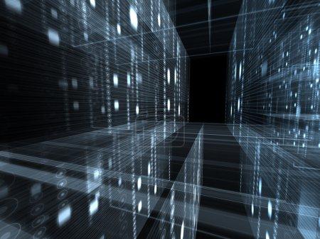 Photo pour Résumé historique technologique de chiffres et de lignes - image libre de droit