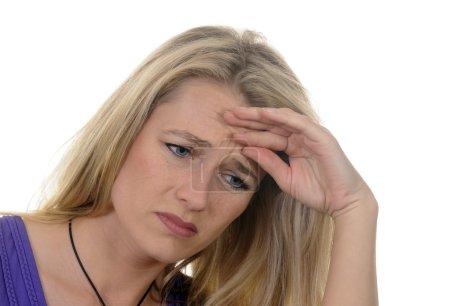 Woman has headaches